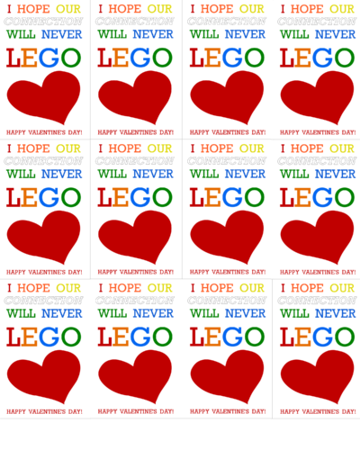 image relating to Valentines Day Cards Printable named LEGO Valentines Working day Playing cards Printable Our Youngster Aspects