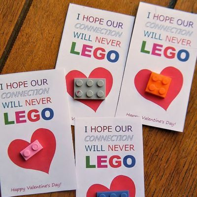 LEGO Valentine's Day Cards Printable