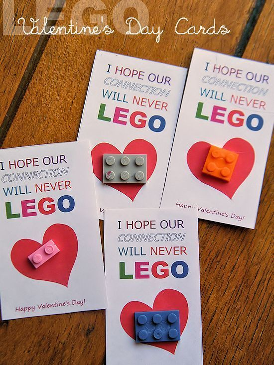 I Hope Our Connection Will Never LEGO Valentine's Day Cards - free printable!