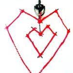 Rustic Stick Heart Door Hanger