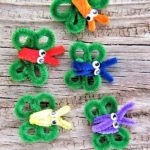 4 Leaf Clover Butterfly Craft