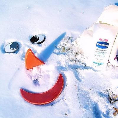 Snow Faces and The Vaseline Winter Care Challenge