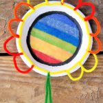 Rainbow Flower Suncatcher Craft