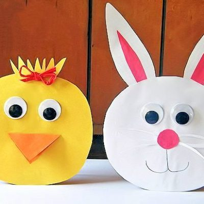 Stand Up Bunny and Chick Easter Paper Craft
