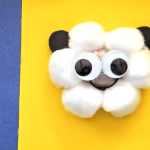 Egg Carton Sheep Face Craft