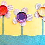 Reuse and Recycle Earth Day Newspaper Flowers Craft
