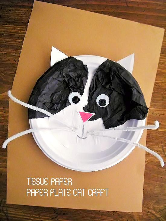 Tissue Paper Christmas Craft Kids