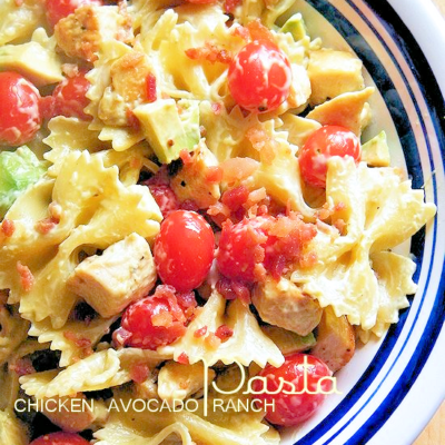 Chicken Avocado Ranch Pasta