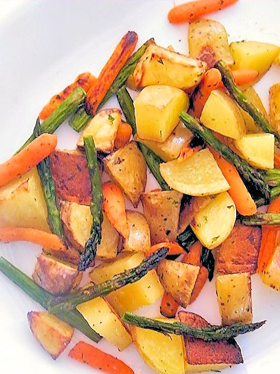 Easy Roasted Spring Vegetables Recipe