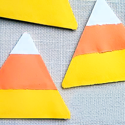 Ripped Paper Candy Corn Craft