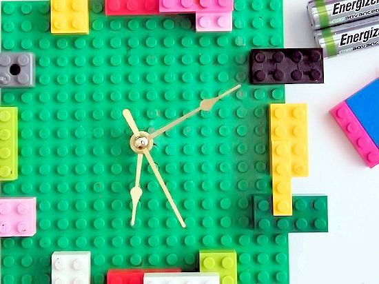 DIY LEGO Clock - a creative piece of functional art for a kids room that's super easy! #BringingInnovation #ad