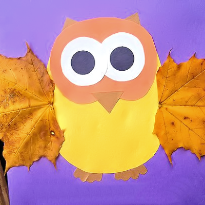 Fall Leaf Owl Craft