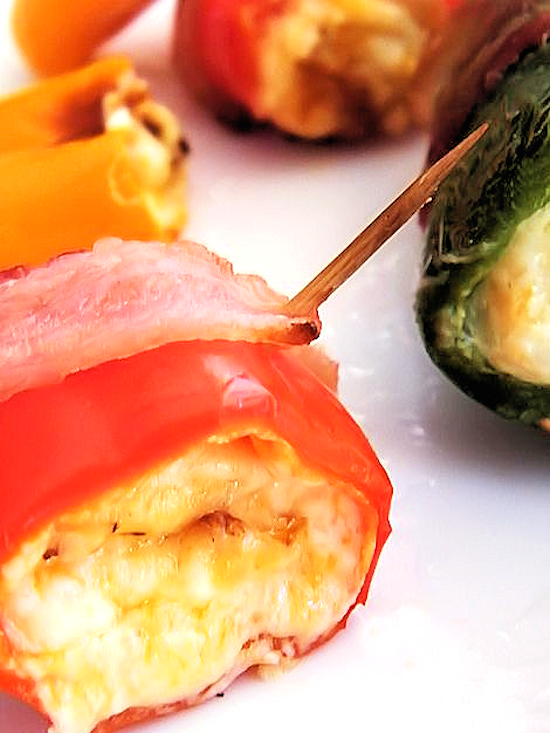 Cheese-Stuffed Peppers that are also great wrapped with bacon! #NaturallyCheesy #ad