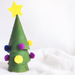 Stacking Cardboard Roll Christmas Tree Craft