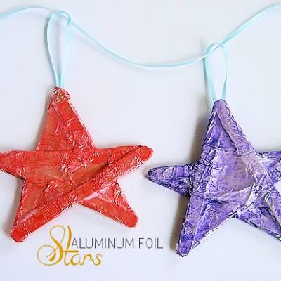 Aluminum Foil Stars Craft