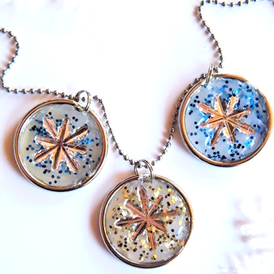 DIY Hot Glue Snowflake Charms