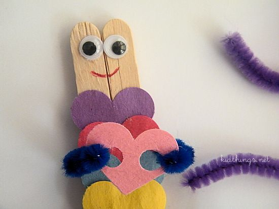 Love Bugs Popsicle Stick Valentine Craft
