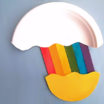 Craft Stick & Paper Plate Rainbow
