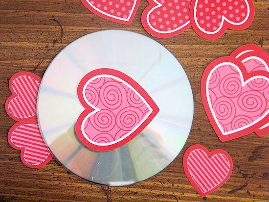 Recycled CD Valentine's Day Love Bird Craft
