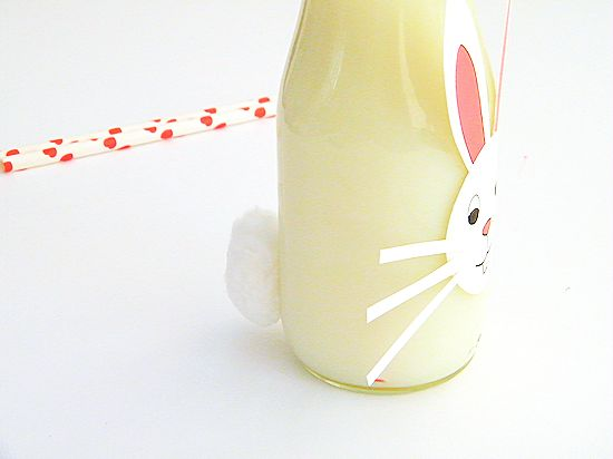 How to turn a regular bottle into Milk Bottle Easter Bunnies for kids