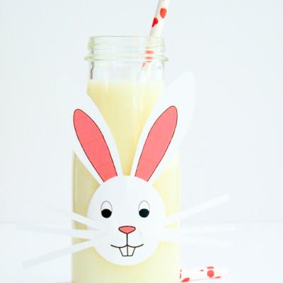 DIY Milk Bottle Easter Bunnies