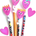Happy Heart Pencil Toppers