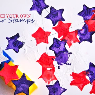 Duplo Block July 4th Star Stamps