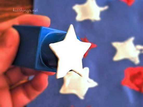 Make Your Own Duplo Block Star Stamps for 4th of July, Independence Day, Memorial Day
