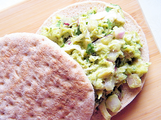 Guacamole Chicken Salad Sandwich Recipe (ad)