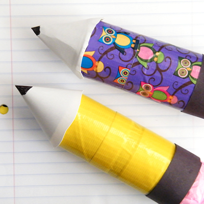 Cardboard Roll Duck Tape Pencil Craft