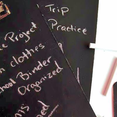 DIY Chalkboard Clipboards