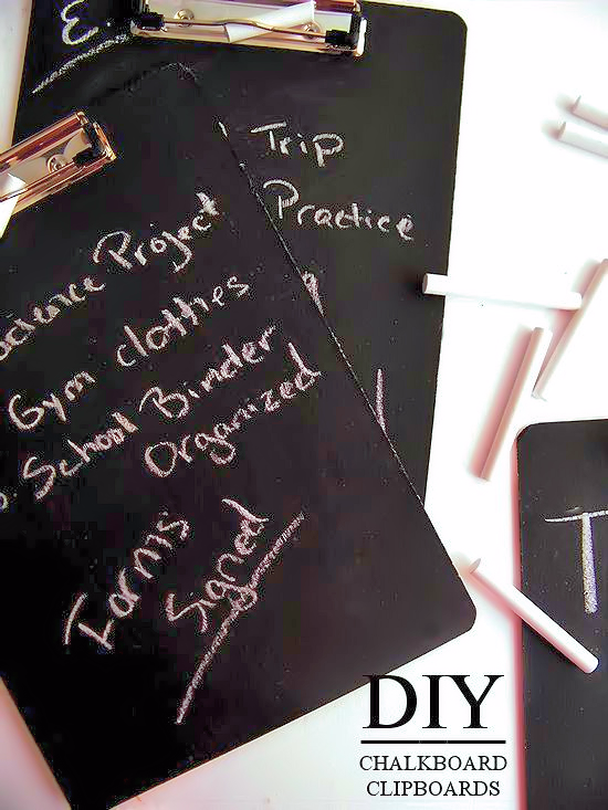 DIY Chalkboard Clipboards | Our Kid Things