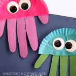 Cupcake Liner & Handprint Jellyfish