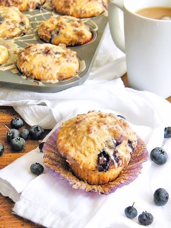Blueberry Coffee Cake Muffins #FoundMyDelight (ad)