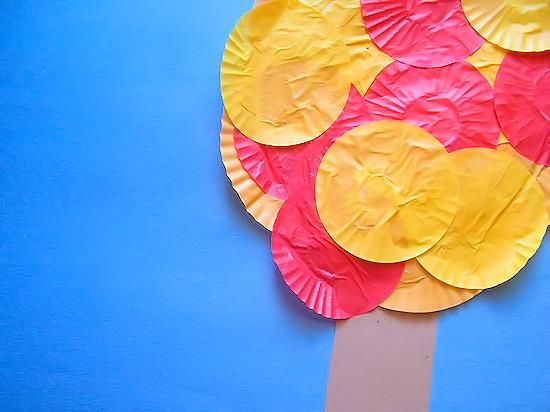Colors of Fall Cupcake Liner Fall Tree Craft