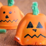 Egg Carton Pumpkin Faces