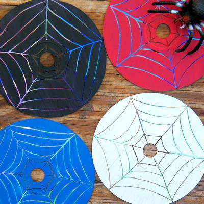 Scratched CD Spiderwebs