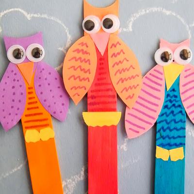 Craft Stick Owls Craft