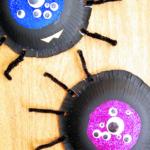Googly Eyed Halloween Spiders