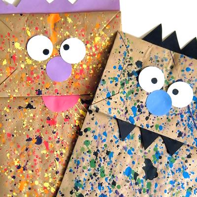 Paint Splatter Monster Puppets