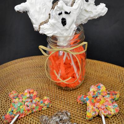 Cocoa Pebbles Ghosts Treats