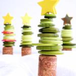 Cork & Button Christmas Tree Craft