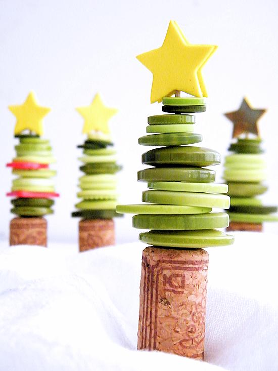 Cork & Button Christmas Tree Craft Christmas Craft Kids Craft