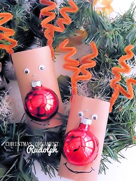 Christmas Ornament Rudolph Reindeer Kids Craft