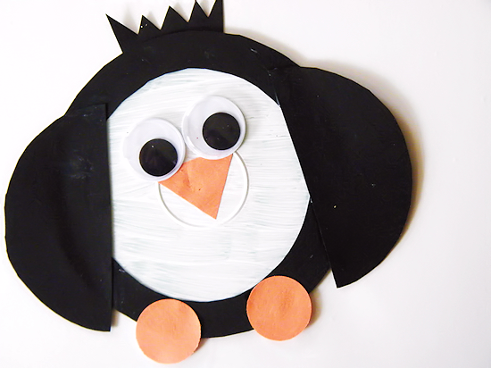 Recycled CD Penguins Winter Kids Craft