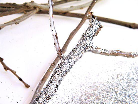 Glitter Sticks Holiday Decor Nature Craft #StickItToLint (ad)
