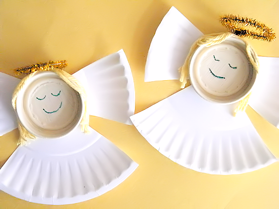 bottle cap angels craft our kid things