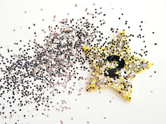 Kids New Year's Eve Glitter Rings Celebration Craft