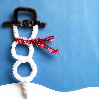 Pipe Cleaner Snowman Topper