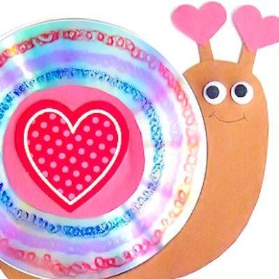 Valentine's Day CD Snail Craft